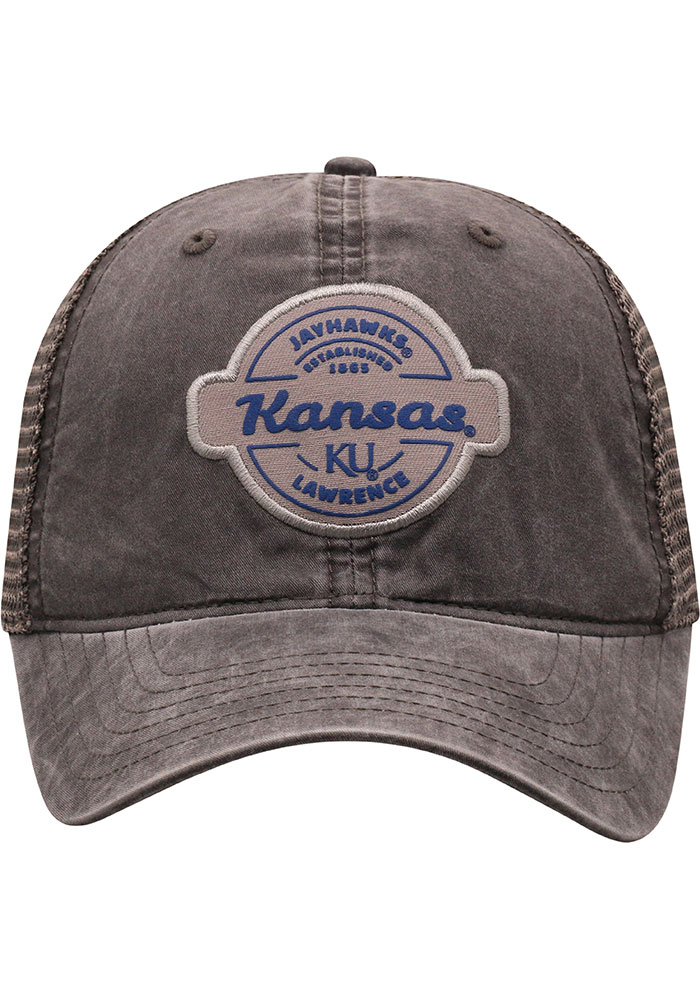 Top of the World Kansas Jayhawks Ominous Adjustable Hat - Grey - Image 3