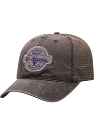 K-State Wildcats Top of the World Ominous Adjustable Hat - Grey