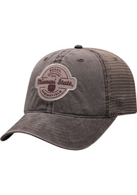 Missouri State Bears Top of the World Ominous Adjustable Hat - Grey