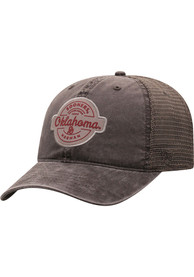 Oklahoma Sooners Top of the World Ominous Adjustable Hat - Grey