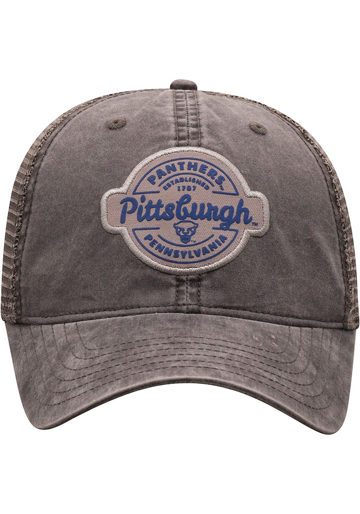 Top of the World Pitt Panthers Ominous Adjustable Hat - Grey - Image 3