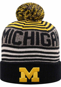 Michigan Wolverines Top of the World Overt Knit - Navy Blue