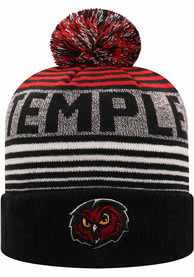 Temple Owls Top of the World Overt Knit - Maroon