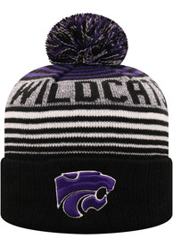 K-State Wildcats Youth Top of the World Overt K Knit Hat - Purple