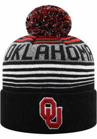 Oklahoma Sooners Youth Top of the World Overt K Knit Hat - Crimson