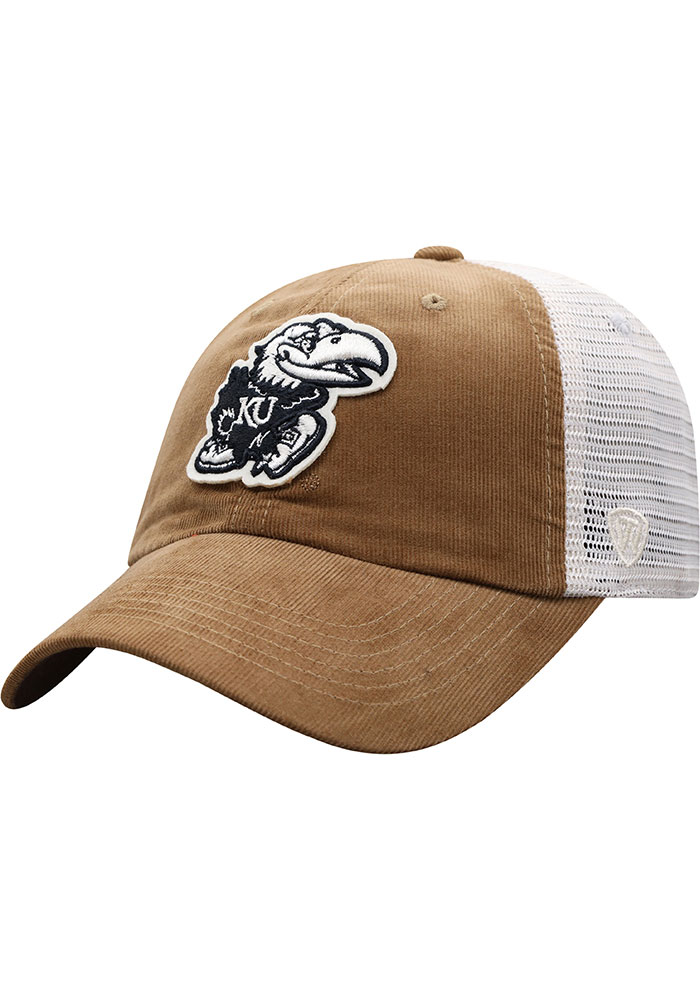 Top of the World Kansas Jayhawks Pine Cone Adjustable Hat - Brown - Image 1