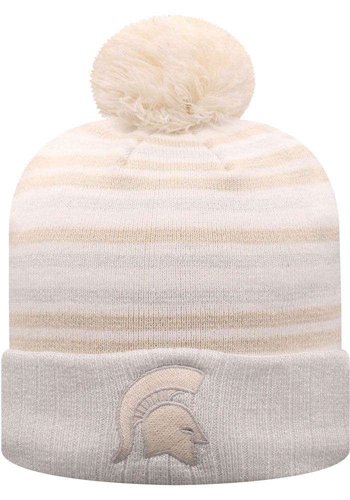 Top of the World Michigan State Spartans White Sophia Womens Knit Hat - Image 1