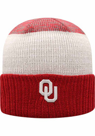 Oklahoma Sooners Youth Top of the World Copula Cuff Knit Hat - Crimson