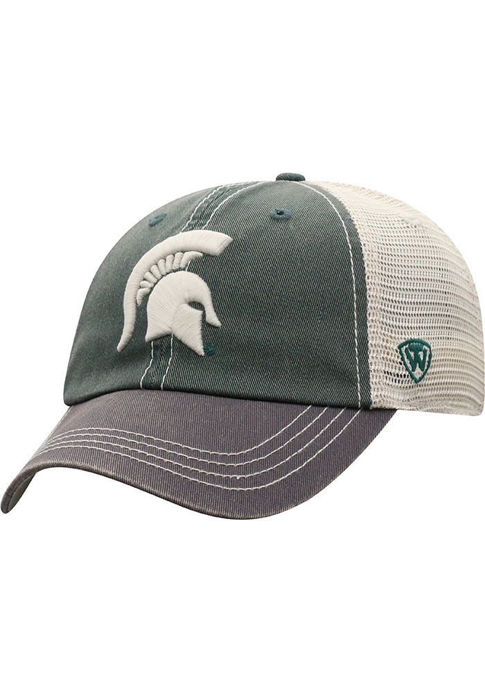 Top of the World Michigan State Spartans Green Offroad Youth Adjustable Hat - Image 1