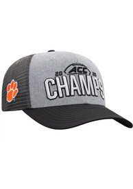 Clemson Tigers Top of the World 2020 ACC Champs Locker Room Adjustable Hat - Grey