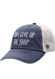 Cleveland Dont Give Up The Ship Dirty Mesh Adjustable Hat - Navy Blue