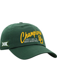 Baylor Bears 2020-2021 Big 12 Champions Adjustable Hat - Green