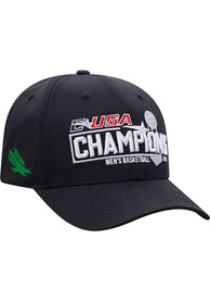 North Texas Mean Green 2021 Conference Tournament Champs Adjustable Hat - Black