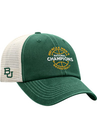 Baylor Bears 2021 Basketball National Champs Ball Adjustable Hat - Green