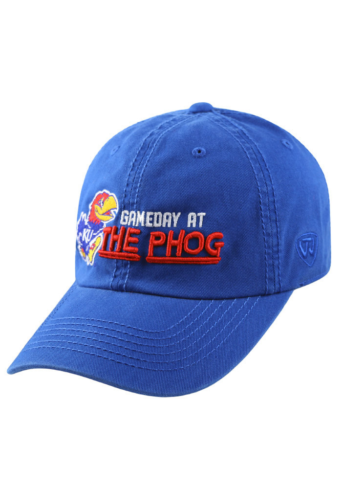 Top of the World Kansas Jayhawks Mens Blue Game Day at the Phog Adjustable Hat - Image 1