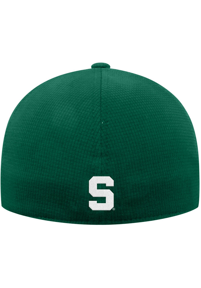 Top of the World Michigan State Spartans Mens Green Booster Plus Flex Hat - Image 2
