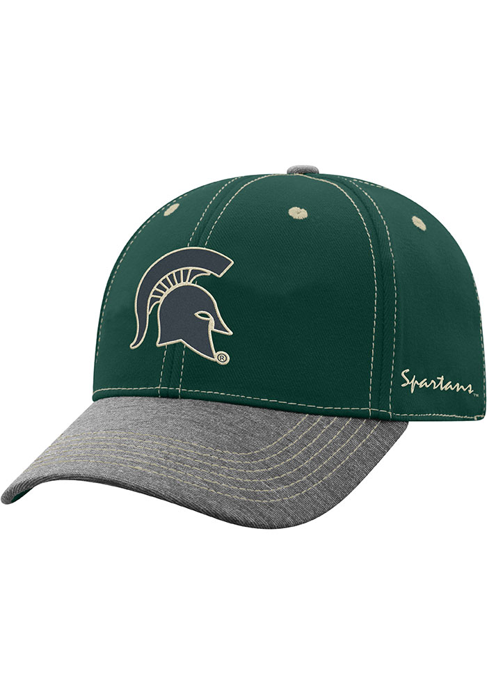 Top of the World Michigan State Spartans Mens Green High Post Flex Hat - Image 1