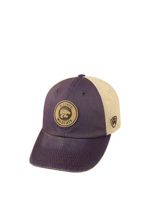 Top of the World K-State Wildcats Mens Grey Outlander Adjustable Hat