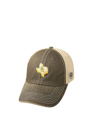 Top of the World Baylor Bears Mens Grey United Adjustable Hat