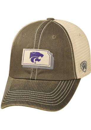 Top of the World K-State Wildcats Mens Grey United Adjustable Hat