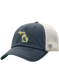 Michigan State Spartans Top of the World United Adjustable Hat - Charcoal