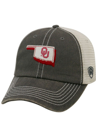 Top of the World Oklahoma Sooners Mens Grey United Adjustable Hat