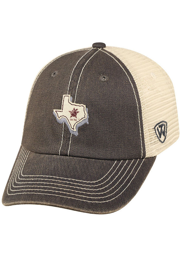 Top of the World Texas A&M Aggies United Adjustable Hat - Grey - Image 1