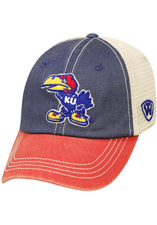 b635ce38eec Top of the World Kansas Jayhawks Blue Offroad Youth Adjustable Hat