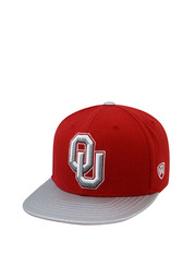 Top of the World Oklahoma Red Carbonite Snapback Hat