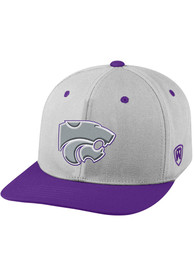 K-State Wildcats Top of the World Intense Flex Hat - Grey