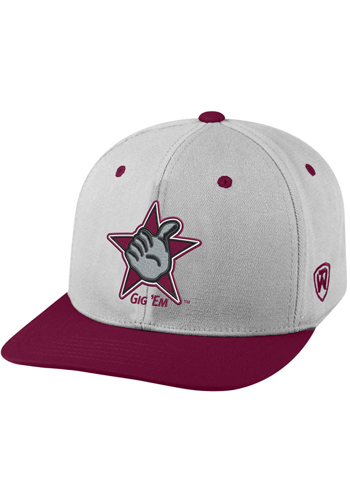 Top of the World Texas A&M Aggies Mens Grey Intense Flex Hat - Image 1