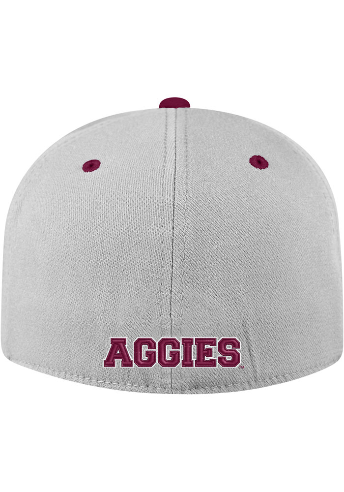 Top of the World Texas A&M Aggies Mens Grey Intense Flex Hat - Image 2