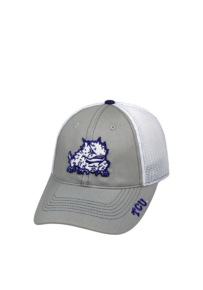 finest selection 2a709 43ca9 ... sweden top of the world tcu horned frogs womens grey glamour adjustable  hat 16b12 5dfab