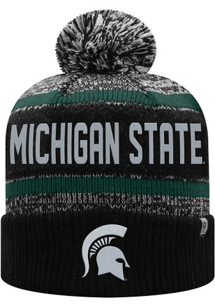 Top of the World Michigan State Spartans Black Acid Rain Knit Hat