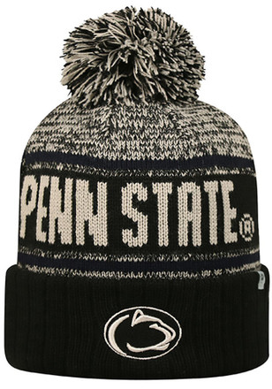 Top of the World Penn State Nittany Lions Mens Black Acid Rain Knit Hat