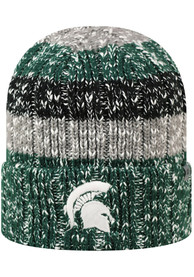 b65e7110 Top of the World Michigan State Spartans Womens Green Wonderland Knit Hat