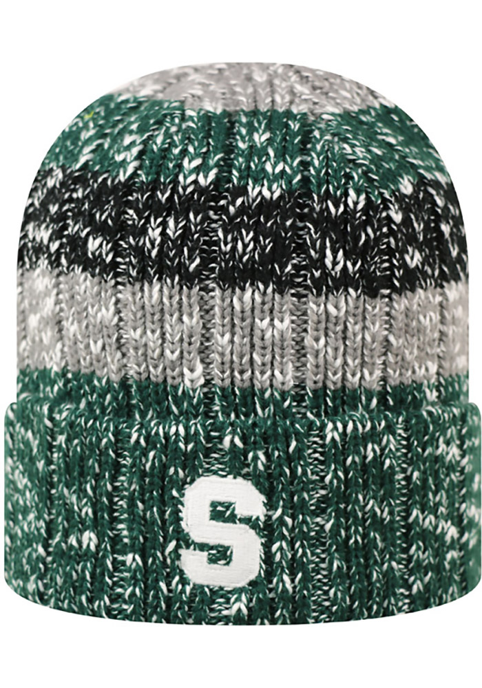 Top of the World Michigan State Spartans Green Wonderland Womens Knit Hat - Image 2