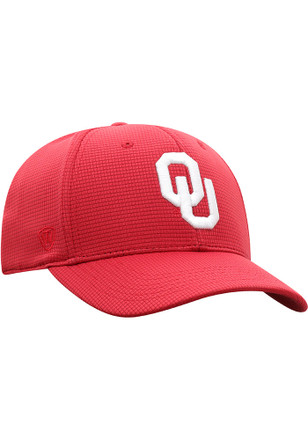 Top of the World Oklahoma Sooners Crimson Booster Plus Flex Hat fc63a8192e7