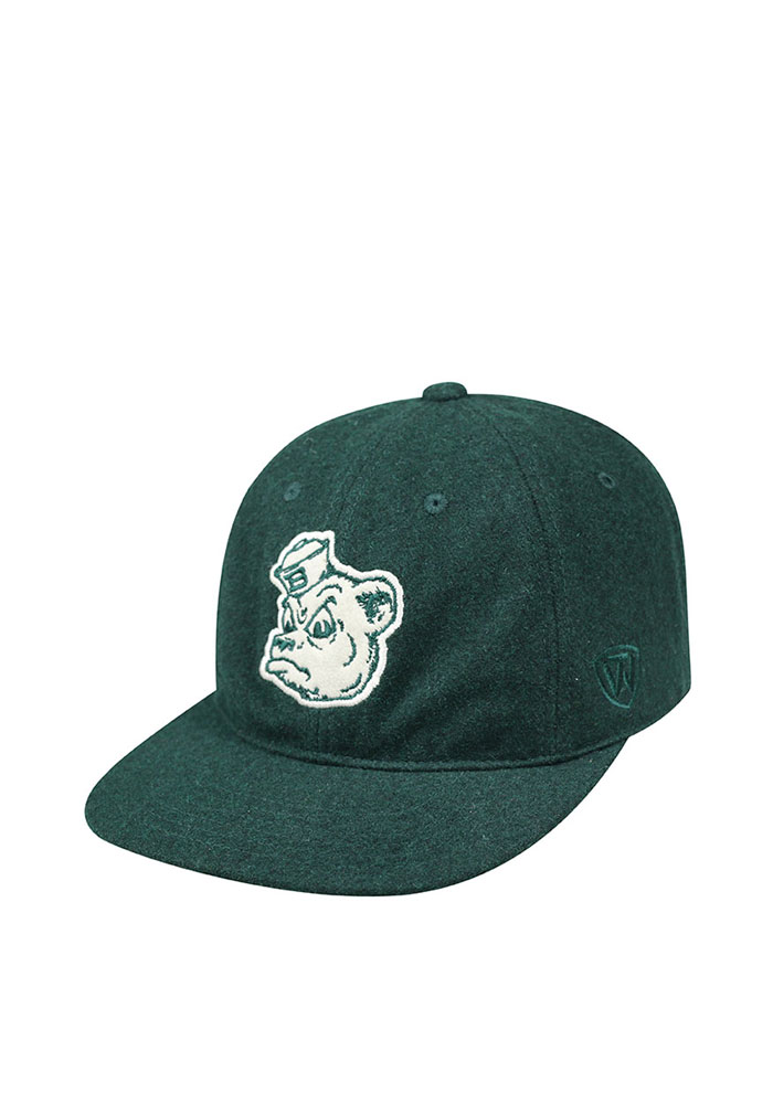 Top of the World Baylor Bears Vintage Natural Adjustable Hat - Green - Image 1