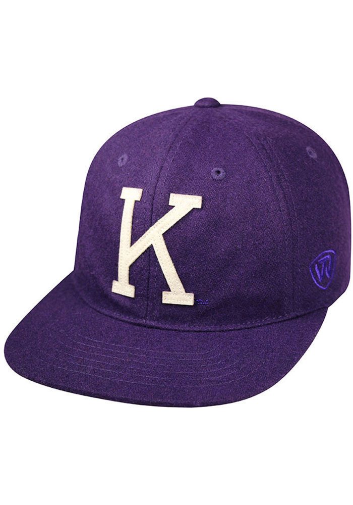 Top of the World K-State Wildcats Mens Purple Vintage Natural Adjustable Hat - Image 1