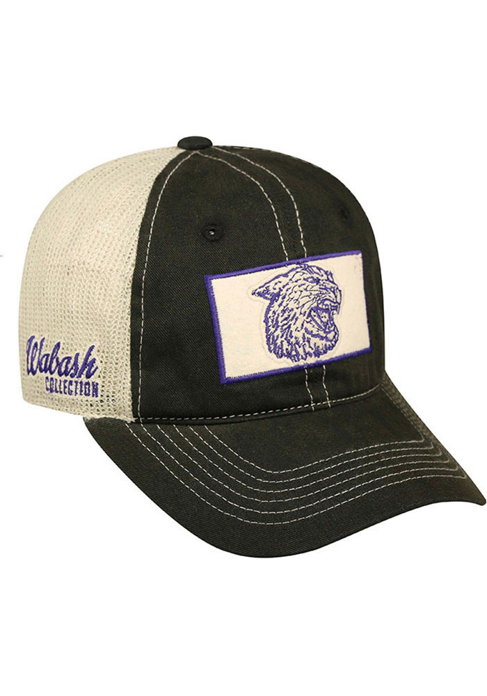 Top of the World K-State Wildcats Mens Black Vintage Mesh Adjustable Hat - Image 1