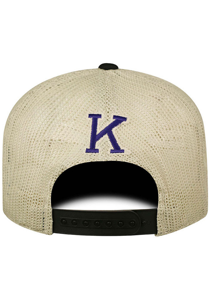 Top of the World K-State Wildcats Mens Black Vintage Mesh Adjustable Hat - Image 2