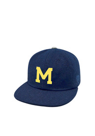 Michigan Wolverines Top of the World Vintage Natural Adjustable Hat - Navy Blue