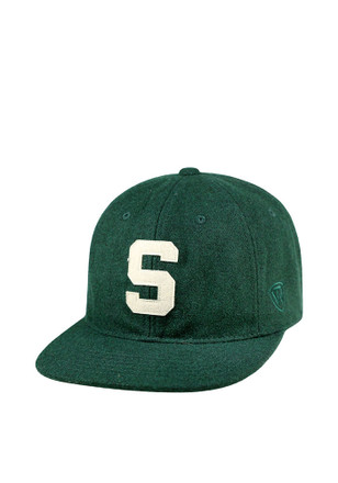 Top of the World Michigan State Spartans Green Vintage Natural Adjustable  Hat 885597aea8b