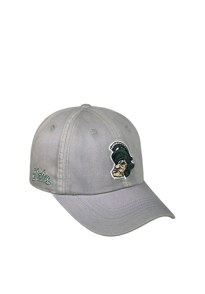 Top of the World Michigan State Spartans Vintage Crew Adjustable Hat - Grey - Image 1