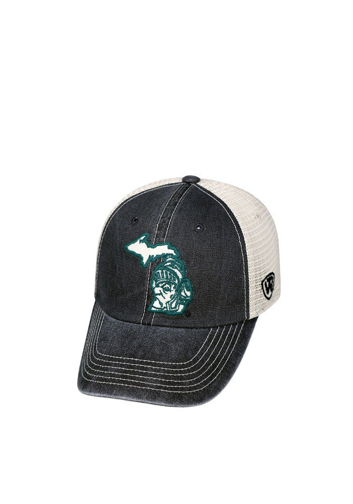 Top of the World Michigan State Spartans Mens Black Vintage Mesh Adjustable Hat - Image 1