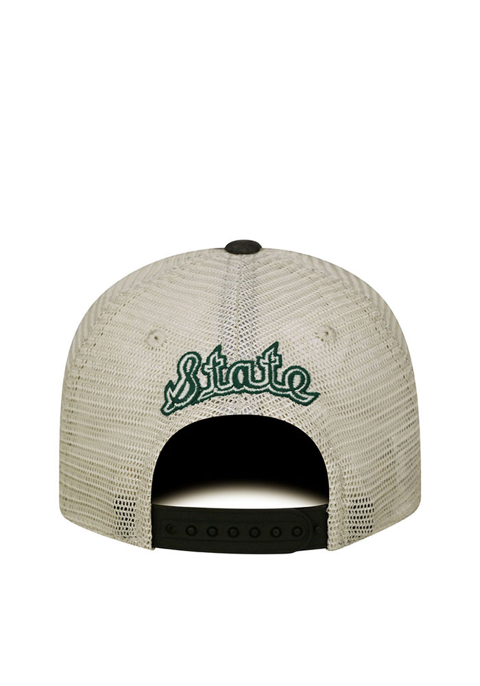 Top of the World Michigan State Spartans Mens Black Vintage Mesh Adjustable Hat - Image 2