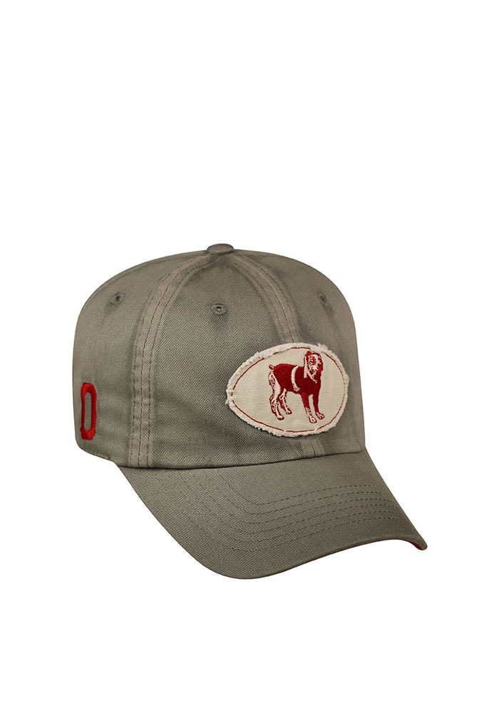 Top of the World Oklahoma Sooners Mens Grey Vintage Crew Adjustable Hat - Image 1