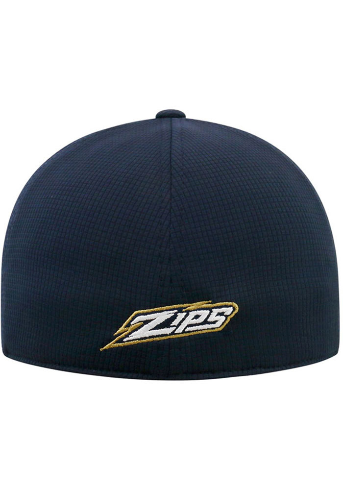 Top of the World Akron Zips Mens Navy Blue Booster Plus Flex Hat - Image 2