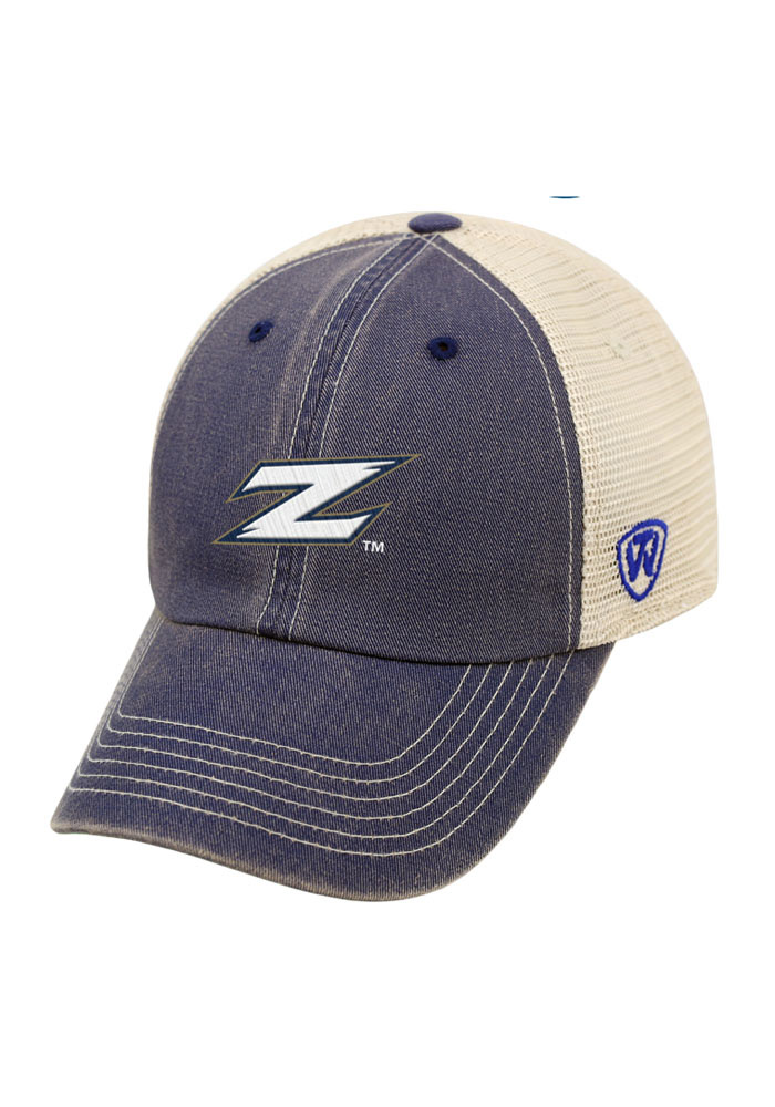 Top of the World Akron Zips Mens Navy Blue Vintage Mesh Adjustable Hat - Image 1